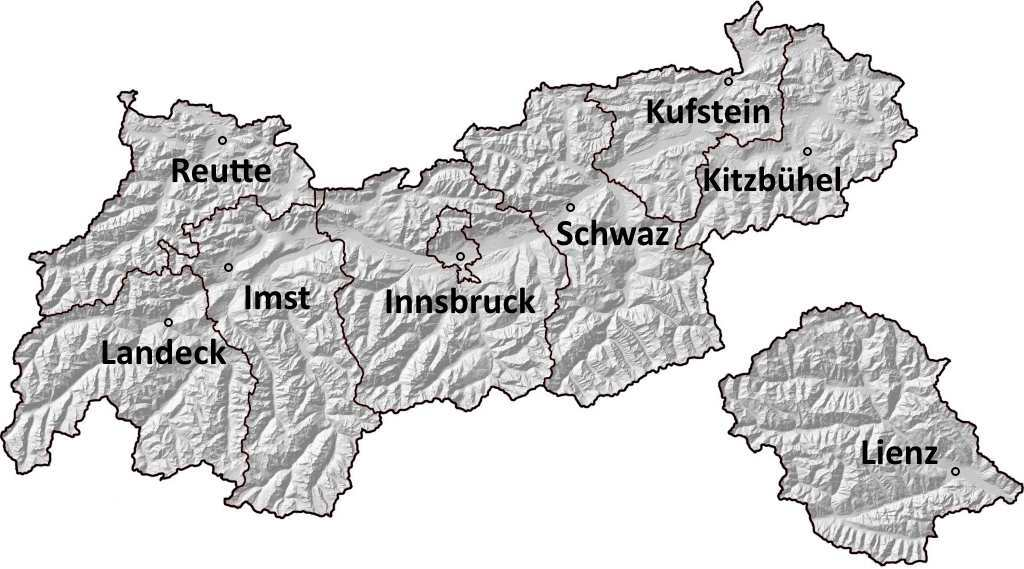 Webcams in den Tiroler Regionen und Bezirken